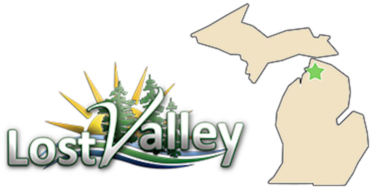 Lost Valley – Northern Michigan Retreat Center - logo and link